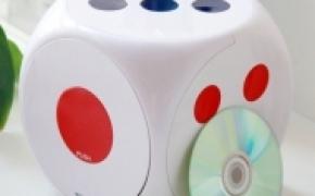 骰子样式的弹出式CD收纳盒