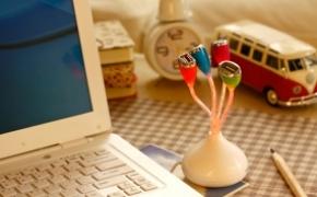 春季发芽样式的USB分线器