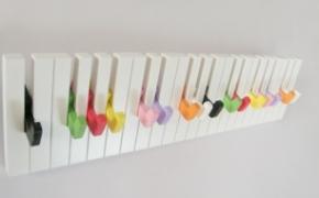 彩色钢琴衣帽挂钩