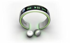 超概念的手环型触屏MP3播放器