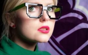 新奇卡哇伊的像素眼镜
