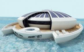 漂浮的太阳能度假酒店