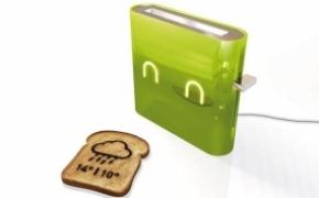 提供信息的智能烤面包机
