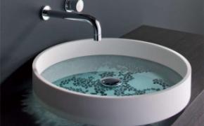 创意光影洗手池