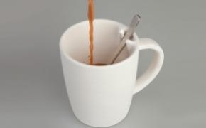 可以固定勺子的咖啡杯