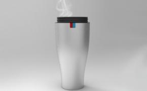 冷热分开的水杯