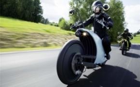 复古有feel的电动摩托车