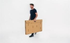 酷且方便的纸板折叠桌