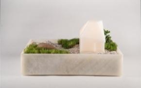 温馨的花盆台灯