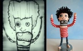 儿童画制成的可爱玩具