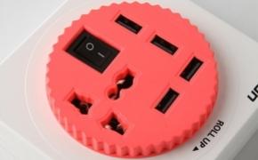 带USB的创意扩展插座