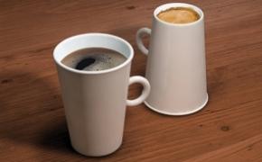 创意咖啡杯 正反都可用