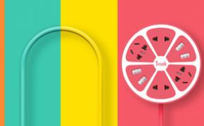 Trozk 特洛克 柠檬创意USB插座